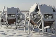 Wejście do Szyprówki - zimową porą